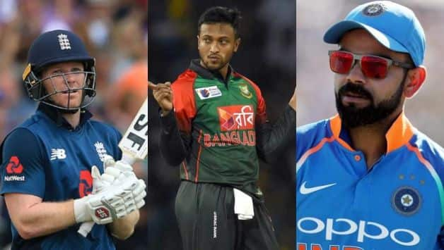 Eoin Morgan, Shakib Al Hasan, Virat Kohli, ICC Cricket World Cup 2019, England, India, Bangladesh
