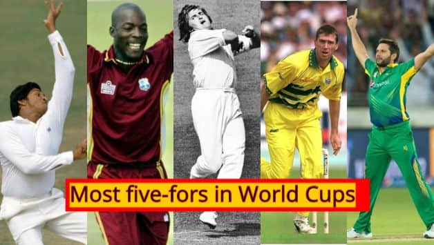Most five fors in World Cups