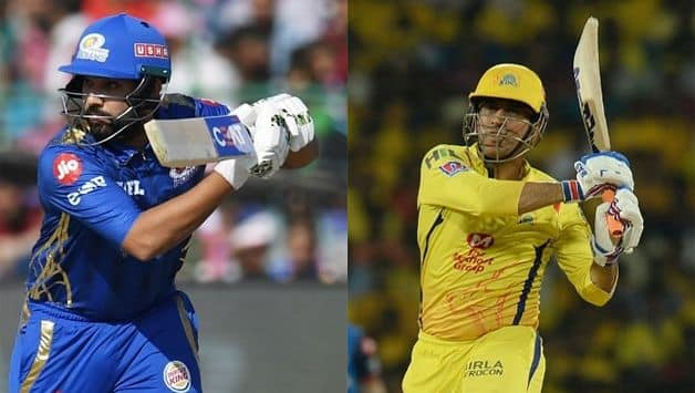 Rohit Sharma and MS Dhoni IPL 2019 final