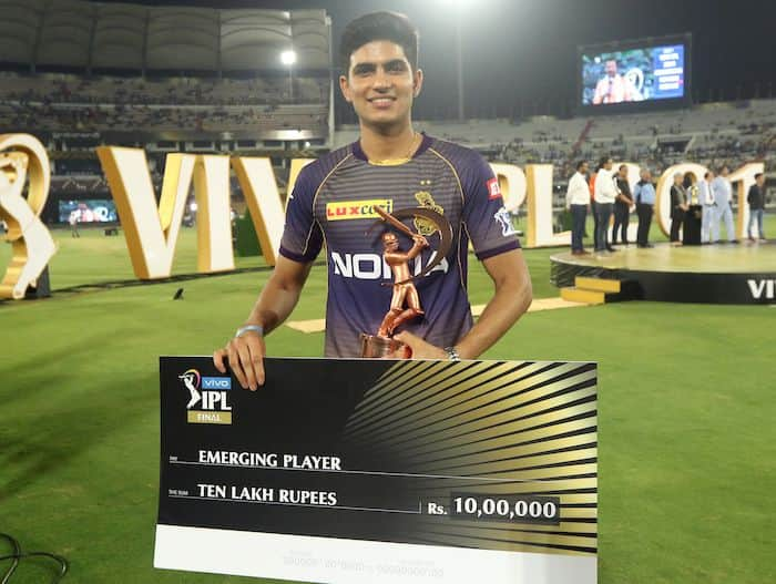 Shubman Gill was the Emerging Player of IPL 2019