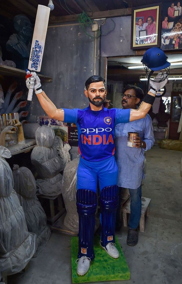 Kohli, India, ICC World Cup 2019, Virat Kohli statue