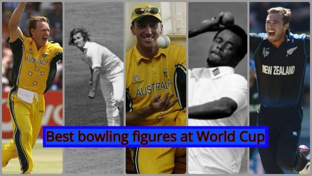 Top five bowling figures at the World Cup