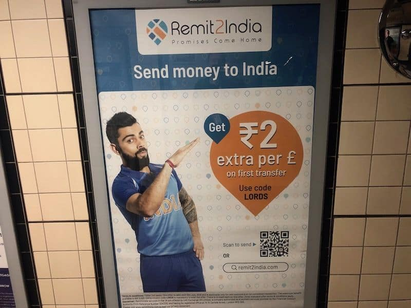 Virat Kohli remit2india