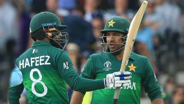 ICC WORLD CUP 2019: England vs Pakistan, hafeez, sarfaraz and babar hits fifites, pakistan set 349 runs target