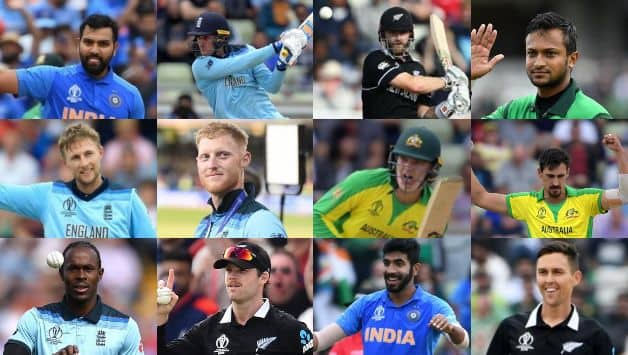 Rohit Sharma, Jason Roy, Kane Williamson (captain), Shakib Al Hasan, Joe Root, Ben Stokes, Alex Carey (wicketkeeper), Mitchell Starc, Jofra Archer, Lockie Ferguson, Jasprit Bumrah, Trent Boult (12th man)