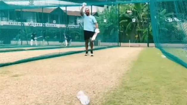 Watch: Shikhar Dhawan feeling 'good' as he picks up bat for Bottle Cap Challenge