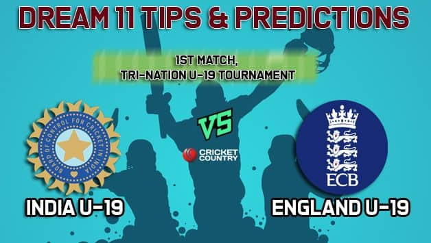 Dream11 Team England U-19 vs India U-19 Youth ODI Tri-Series – Cricket Prediction Tips For Today's 1st Youth ODI EN-Y vs IN-Y at New Road, Worcester