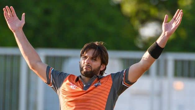 WATCH: Shahid Afridi turns back the clock with a whirlwind 81 off just 40 balls in GT20 Canada