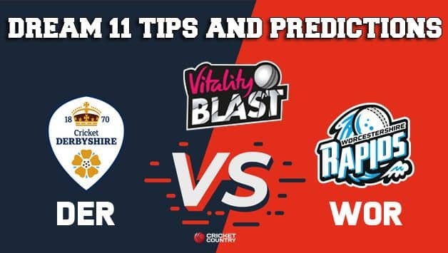 Dream11 Team Derbyshire vs Worcestershire North Group VITALITY T20 BLAST ENGLISH T20 BLAST – Cricket Prediction Tips For Today's T20 Match DER vs WOR at Worcester