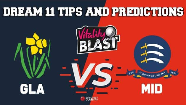Dream11 Team Glamorgan vs Middlesex South Group VITALITY T20 BLAST ENGLISH T20 BLAST – Cricket Prediction Tips For Today's T20 Match GLA vs MID at Cardiff