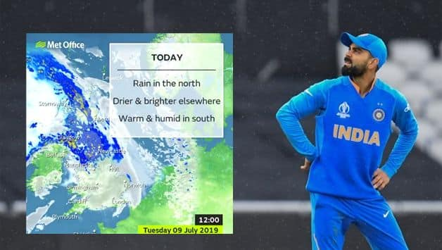 India vs New Zealand, semi-final Weather Report, Cricket World Cup