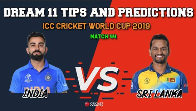 IND vs SL Dream11 Prediction, Cricket World Cup 2019, Match 44: Best Playing XI Players to Pick for Today's Match between India and Sri Lanka at 3 PM