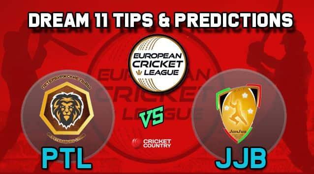 Dream11 Team PTL vs JJB Group B European Cricket League-T10 – Cricket Prediction Tips For Today's T10 Match St. Petersburg Lions vs JCC Brescia at La Manga Club