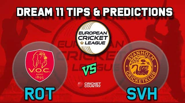 Dream11 Team ROT vs SVH Group A European Cricket League-T10 – Cricket Prediction Tips For Today's T10 Match VOC Rotterdam vs Svanholm Cricket Club at La Manga Club