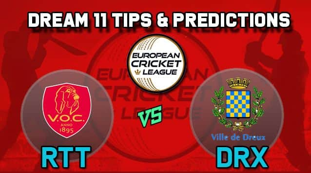 Dream11 Team VOC Rotterdam vs Dreux Cricket Club Group A European Cricket League-T10 – Cricket Prediction Tips For Today's T10 Match RTT vs DRX at La Manga Club