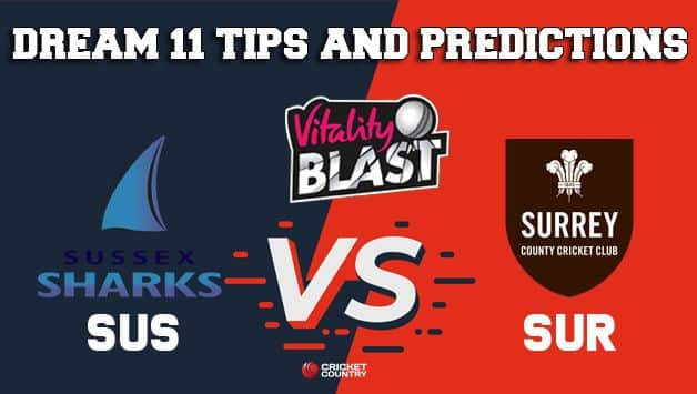 Dream11 Team Sussex vs Surrey South Group VITALITY T20 BLAST ENGLISH T20 BLAST – Cricket Prediction Tips For Today's T20 Match SUS vs SUR at Brighton
