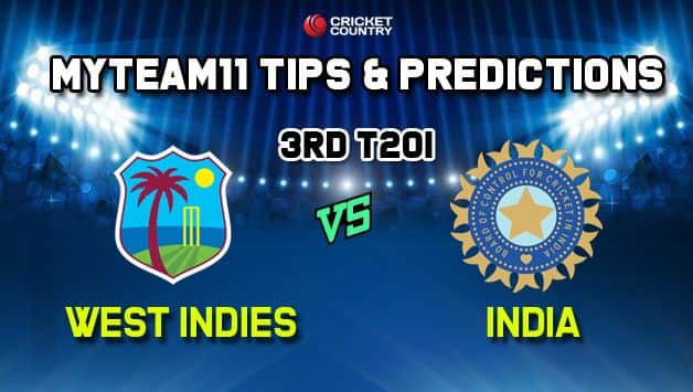 MyTeam11 India vs West Indies 3rd T20I – Cricket Prediction Tips For