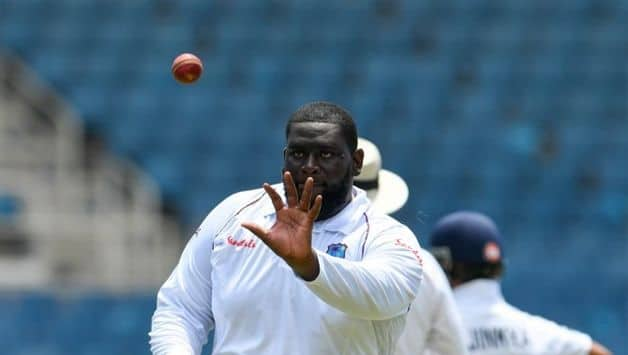 An even day, the bowlers put in the hard yards: Rahkeem Cornwall