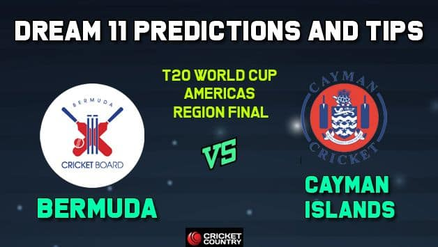 BER vs CAY Dream11 Team Bermuda vs Cayman Islands, ICC Men's T20 World Cup Americas Region Final – Cricket Prediction Tips For Today's Match BER vs CAY at Sandys Parish