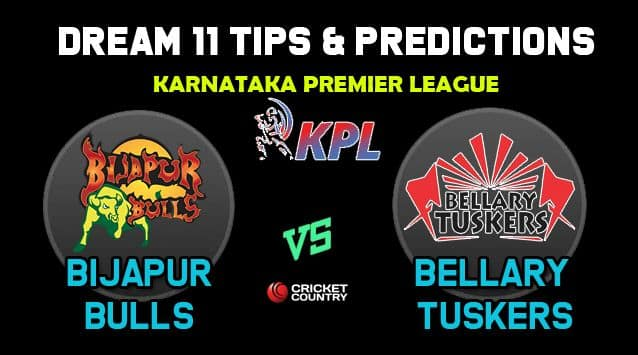 BIJ vs BT Dream11 Team Bijapur Bulls vs Bellary Tuskers KPL 2019 Karnataka Premier League – Cricket Prediction Tips For Today's T20 Match at Bengaluru