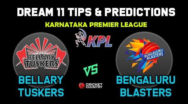 Dream11 Team Bellary Tuskers vs Bengaluru Blasters, BT vs BB