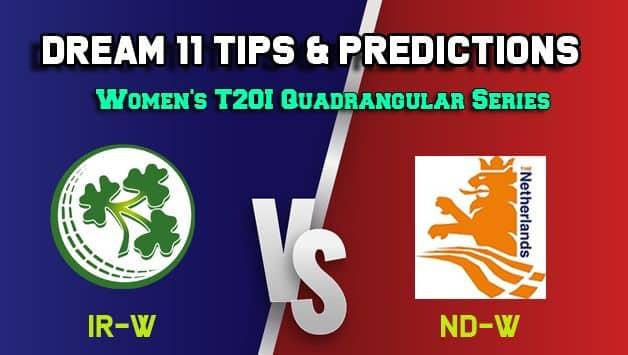 IR-W vs ND-W Dream11 Team Ireland Women vs Netherlands Women, 8th Match, Women's Quadrangular T20I – Cricket Prediction Tips For Today's Match IR-W vs ND-W at Deventer
