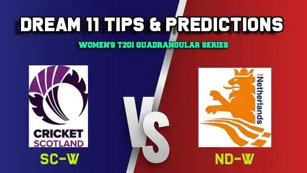 Dream11 Team Scotland women vs Netherlands women Match WOMEN'S T20I QUADRANGULAR SERIES 2019 – Cricket Prediction Tips For Today's T20 Match SC-W vs ND-W at Deventer