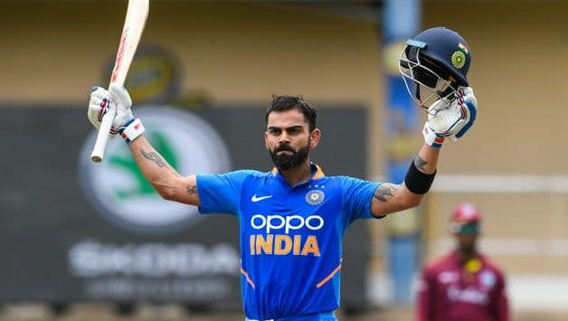 2nd ODI: Kohli century, Iyer fifty guide India to 279/7