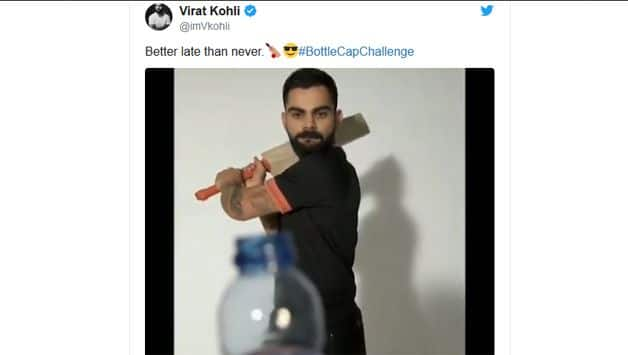 WATCH: Virat Kohli's Bottle Cap challenge with Ravi Shastri's commentary