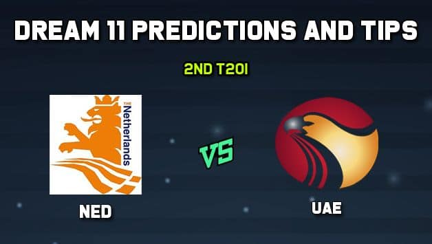 Dream11 Team UAE vs Netherlands 2nd T20I– Cricket Prediction Tips For Today's T20 Match UAE vs NED at Amstelveen