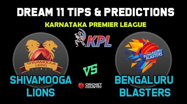 Dream11 Team Shivamogga Lions vs Bengaluru Blasters, SL vs