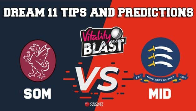 Dream11 Team Somerset vs Middlesex South Group VITALITY T20 BLAST ENGLISH T20 BLAST – Cricket Prediction Tips For Today's T20 Match SOM vs MID at Richmond