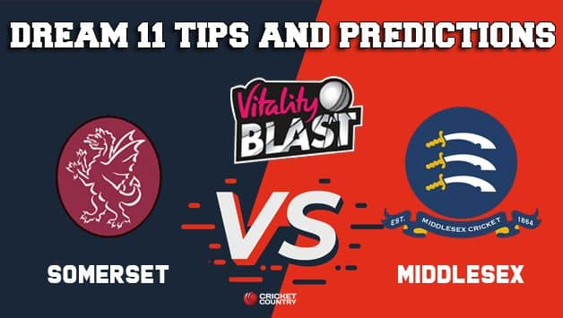Dream11 Team Somerset vs Middlesex South Group VITALITY T20 BLAST ENGLISH T20 BLAST – Cricket Prediction Tips For Today's T20 Match SOM vs MID at Taunton