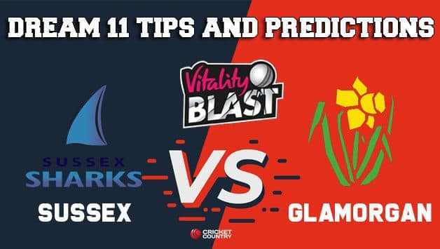 Dream11 Team Sussex vs Glamorgan South Group VITALITY T20 BLAST ENGLISH T20 BLAST – Cricket Prediction Tips For Today's T20 Match SUS vs GLA at Cardiff