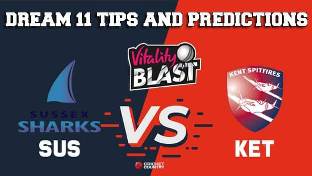 Dream11 Team Sussex vs Kent South Group VITALITY T20 BLAST ENGLISH T20 BLAST – Cricket Prediction Tips For Today's T20 Match SUS vs KET at Canterbury