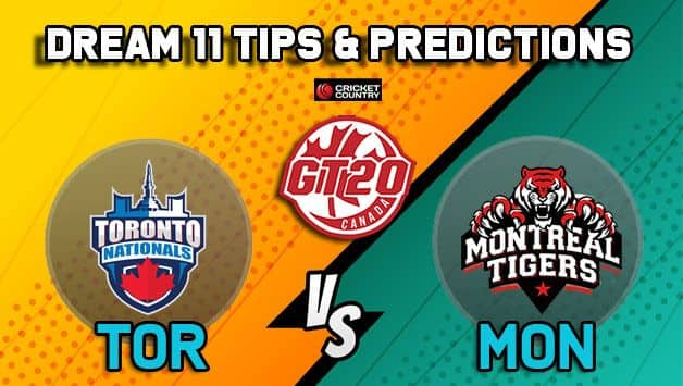 Dream11 Team Toronto Nationals vs Montreal Tigers Match 15 GT20 CANADA 2019 GLOBAL T20 CANADA – Cricket Prediction Tips For Today's T20 Match TOR vs MON at Brampton
