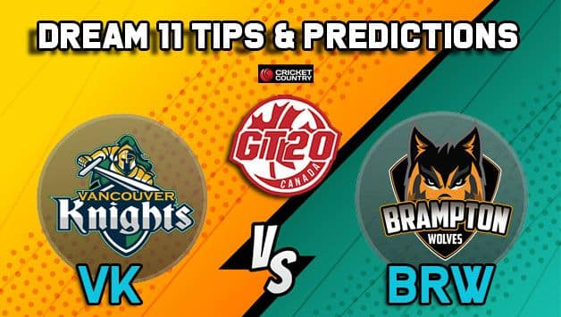 Dream11 Team Vancouver Knights vs Brampton Wolves Match 14 GT20 CANADA 2019 GLOBAL T20 CANADA – Cricket Prediction Tips For Today's T20 Match VK vs BRW at Brampton