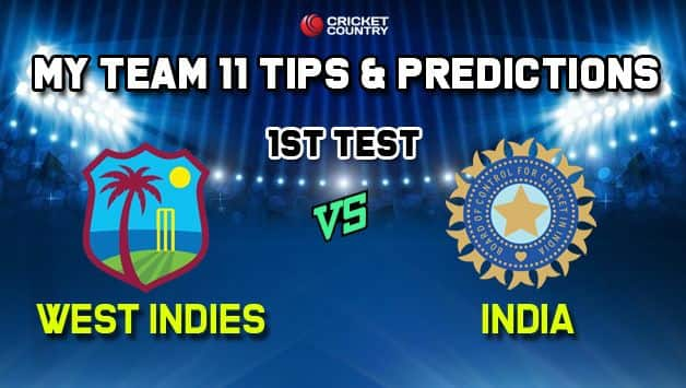 IND vs WI My Team 11 Team India vs West Indies, 1st Test – Cricket Prediction Tips For Today's Match IND vs WI at Antigua