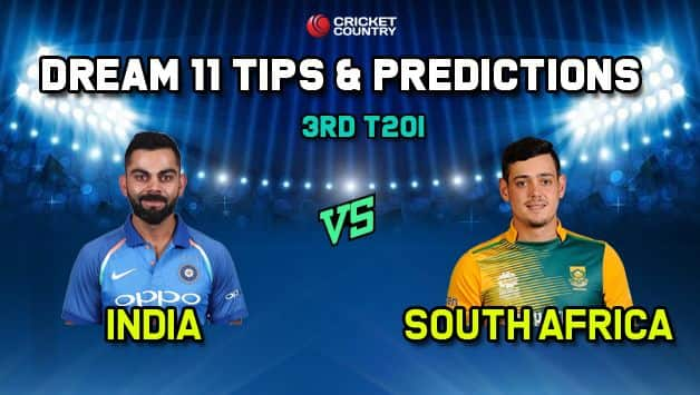 IND vs SA Dream11 Team India vs South Africa 2019, 3rd T20I, South Africa tour of India 2019 – Cricket Prediction Tips For Today's Match IND vs SA in Bengaluru