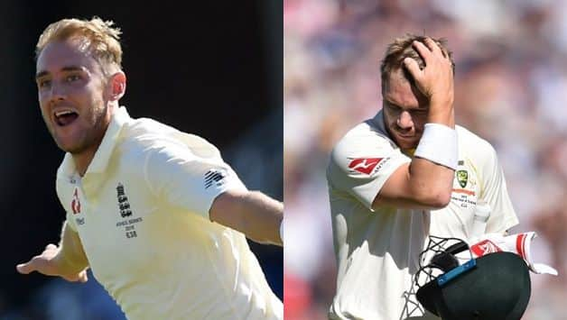 David Warner's horror Ashes series ends as Stuart Broad gets him out for record-equalling 7th time