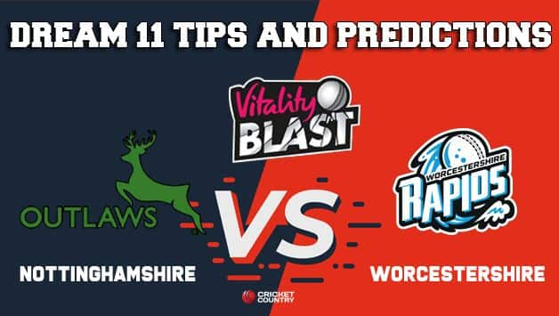 Dream11 Team Nottinghamshire vs Worcestershire 1st Semi-final VITALITY T20 BLAST 2019 ENGLISH T20 BLAST – Cricket Prediction Tips For Today's T20 Match NOT vs WOR at Edgbaston, Birmingham