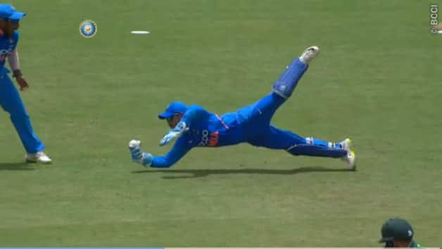 Video: Ishan Kishan takes one-handes stunner against South Africa A