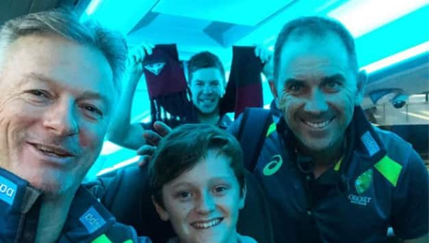 Australian kid raised money for Ashes tickets by picking garbage for 4 years; Gets to travel in Team bus