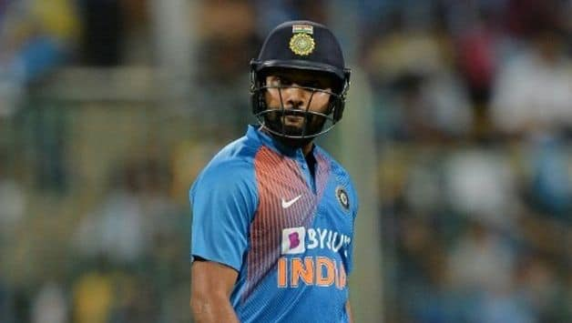 Rohit Sharma equals MS Dhoni's record for most T20I matches for India
