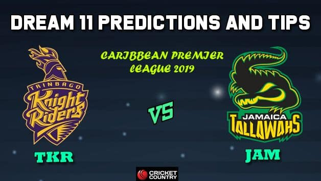Dream11 Team Trinbago Knight Riders vs Jamaica Tallawahs Match 10 Caribbean Premier League 2019 – Cricket Prediction Tips For Today's T20 Match TKR vs JAM at Jamaica