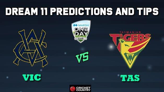 Dream11 Team Victoria vs Tasmania, Match 3 Marsh One-Day Cup 2019 Australian ODD – Cricket Prediction Tips For Today's Match VIC vs TAS at Perth