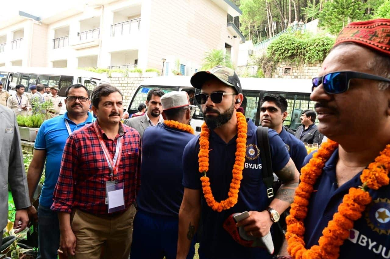 Indian Cricket Team Arrive in Dharamsala Ahead of First T20I against South Africa