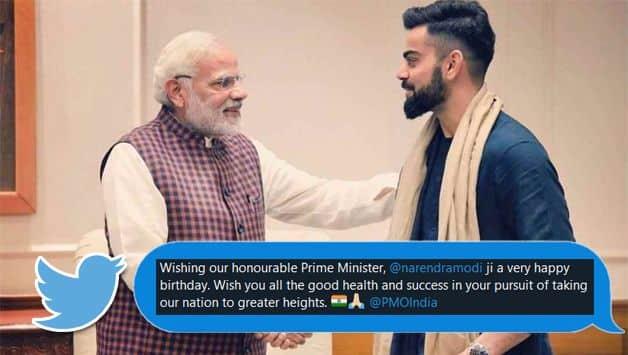 Virat Kohli leads birthday wishes for PM Narendra Modi among cricket fraternity