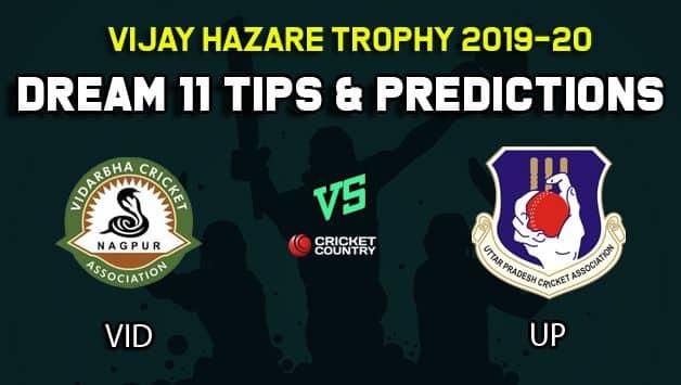 Dream11 Team Vidarbha vs Uttar Pradesh, Round 4, Elite Group B Vijay Hazare Trophy 2019 VHT ODD – Cricket Prediction Tips For Today's Match VID vs UP at Vadodara