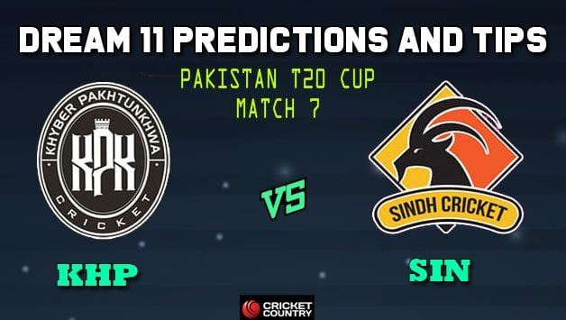 Dream11 Team Khyber Pakhtunkhwa vs Sindh Pakistan T20 Cup National T20 Cup, 2019 – Cricket Prediction Tips For Today's T20 Match 7 KHP vs SIN at Faisalabad